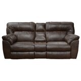 Nolan 89 Wide Faux Leather Pillow Top Arm Reclining Loveseat by Catnapper