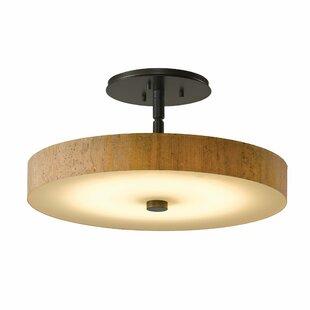 Disq 1-Light LED Semi Flush Mount by Hubbardton Forge