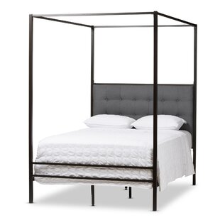 Baxton Studio Margherita Queen Canopy Bed  sc 1 st  Wayfair & Canopy Beds