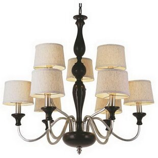 Spigner 9-Light Shaded Chandelier by Charlton Home