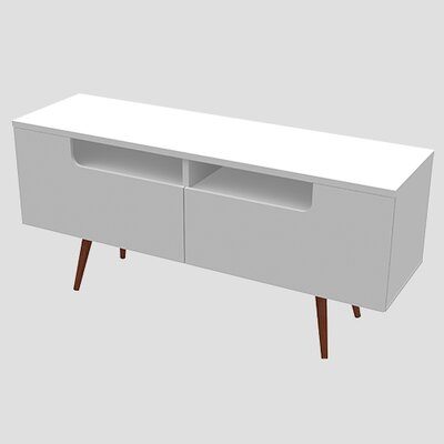 Shanice TV Stand for TVs up to 60 Color: Dark Cherry/White by Brayden Studio