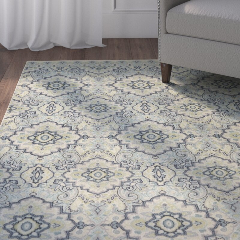 charlton home montville santa ana blue/cream area rug & reviews
