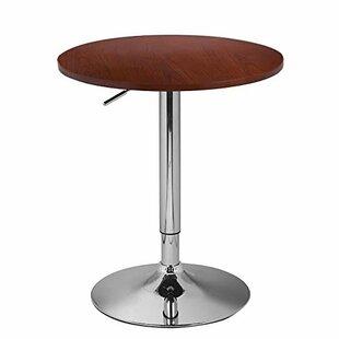 Adeco Trading Adjustable Height Pub Table