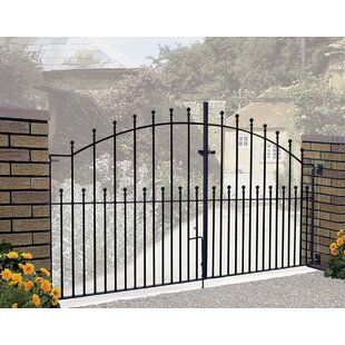 Begonia Ball Top Arched Driveway Garden Metal Gate By Rosalind Wheeler