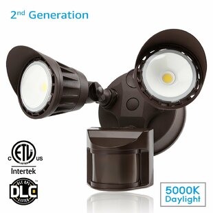30-Watt LED Connectivity Outdoor Security Flood Light with Motion Sensor by LEONLITE