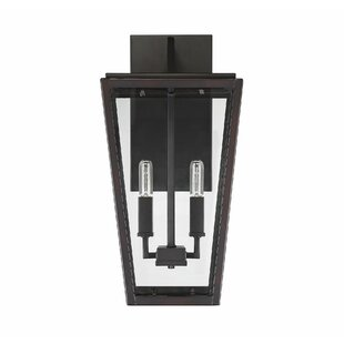 Gracie Oaks Wulff 2-Light LED Outdoor Wall Lantern