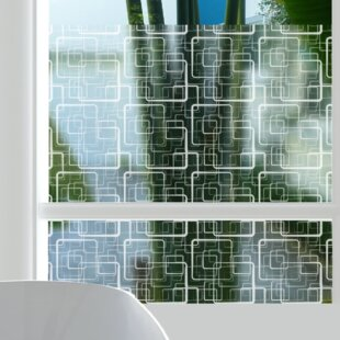 Squares Sheer Window Film by Stick Pretty