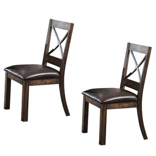 Halle X-Style Back Upholstered Dining Chair (Set of 2) by Millwood Pines