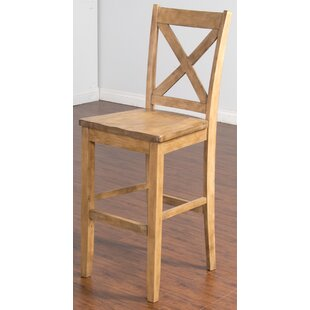 Mcabee Crossback 30 Bar Stool Millwood Pines