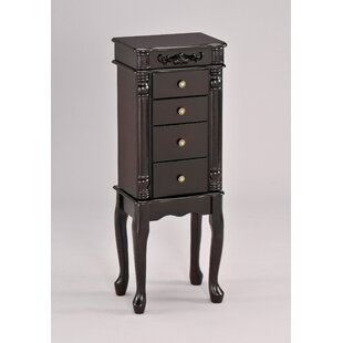 Garvin Jewelry Armoire with Mirror by Alcott Hill