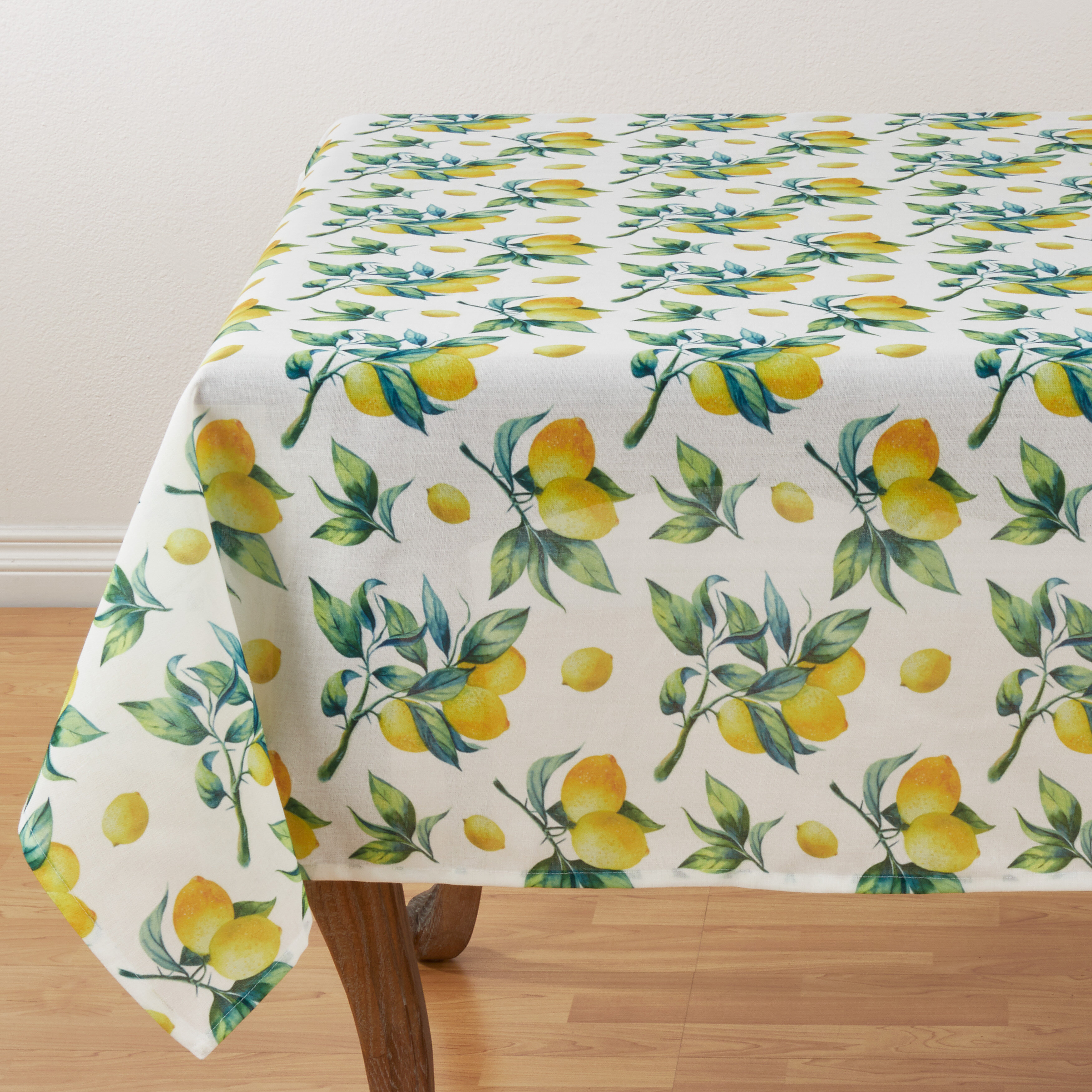 Lemon Pattern Printed Polyester Dinner Table Cover Xmas Party Decor Tablecloth