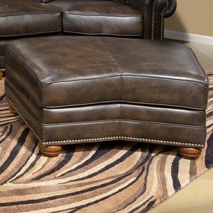 Omnia Leather Kingsley Leather Ottoman