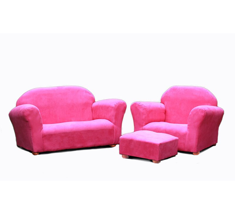 Jovanni 3 Piece Kids Chair And Sofa Ottoman