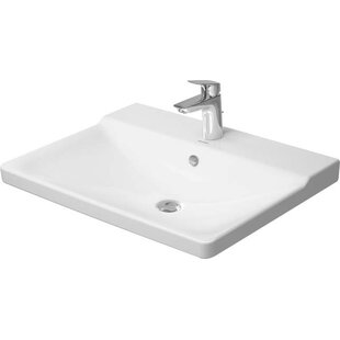 Affordable P3 Comforts Ceramic Rectangular Vessel Bathroom Sink with Overflow By Duravit