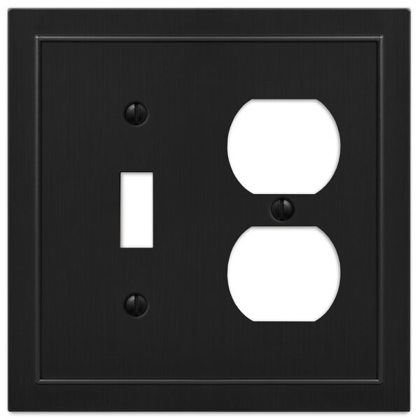 Amertac Bethany 2 Gang Duplex Outlet Toggle Light Switch Combination Wall Plate Wayfair