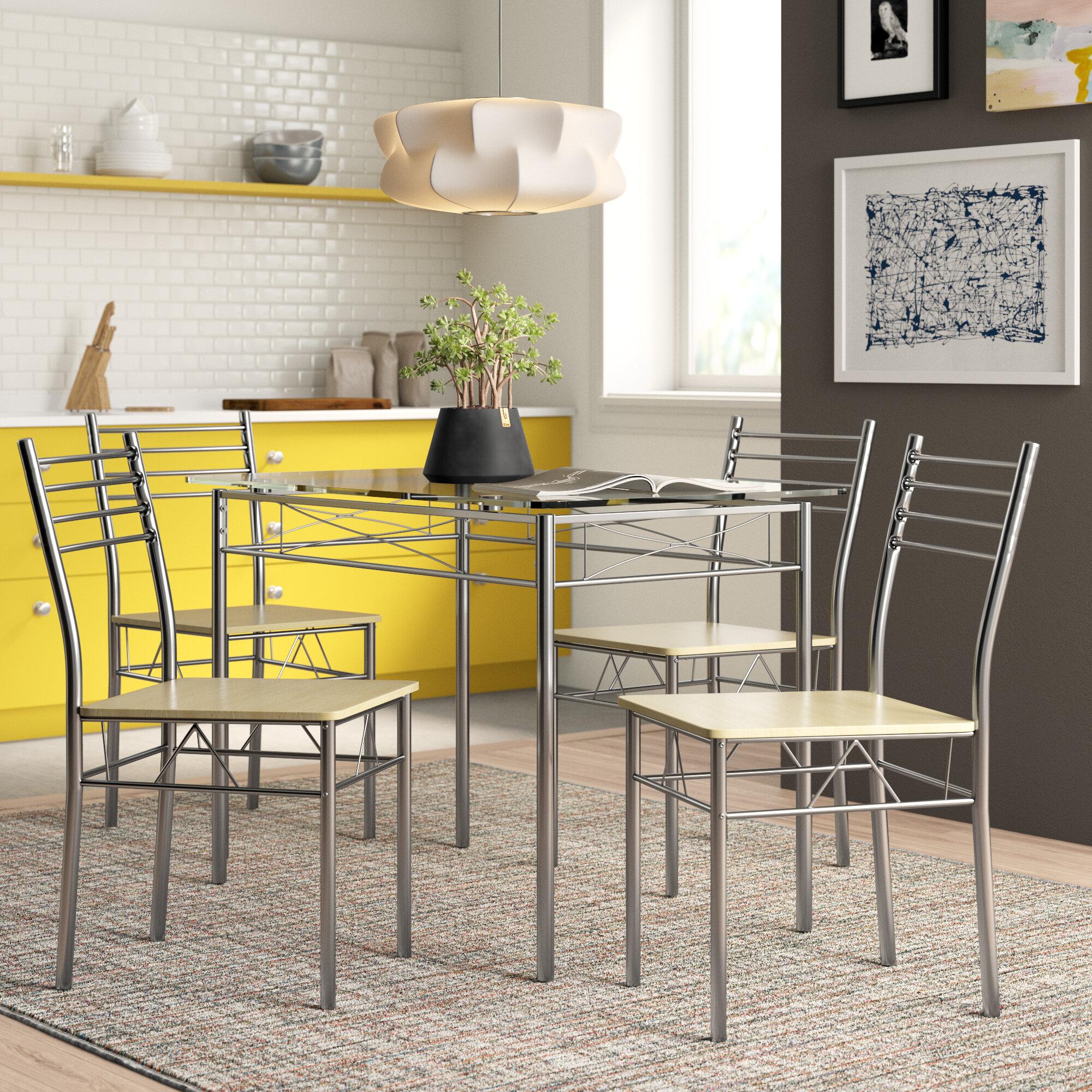 Zipcode Design North Reading 5 Piece Dining Table Set Reviews Wayfair