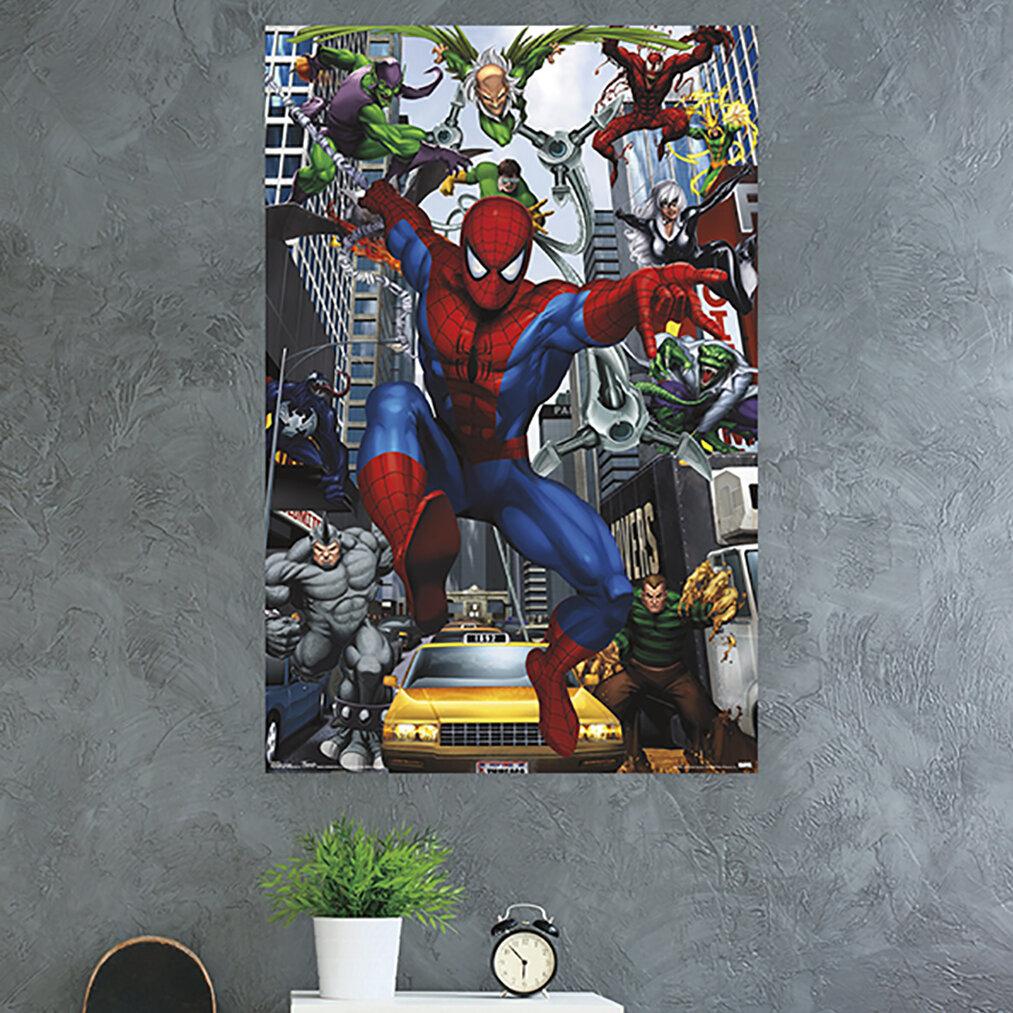 Trends International Spider Man Rogues Paper Print Wayfair