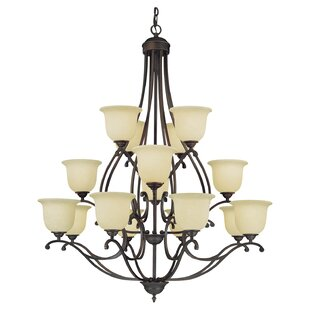 Fleur De Lis Living Beau 16-Light Shaded Chandelier