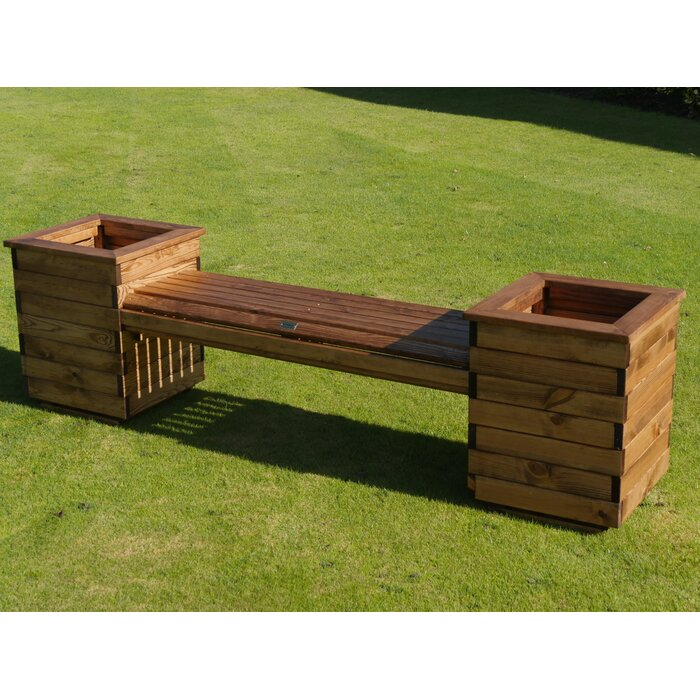 Acel Wooden Planter Bench