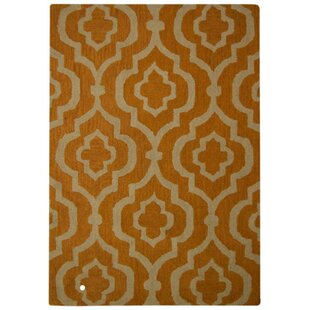 Ketron Hand-Tufted Wool Gold/White Area Rug By Everly Quinn
