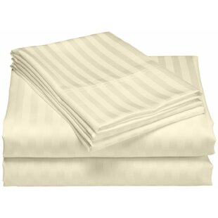 Rosecliff Heights Cazares Stripe Weave 1200 Thread Count Egyptian-Quality Cotton Sheet Set