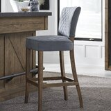 Stribling Quilted 31 Bar Stool by Gracie Oaks
