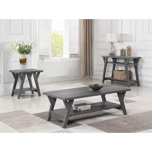 Gaye 3 Piece Coffee Table Set by Highland Dunes