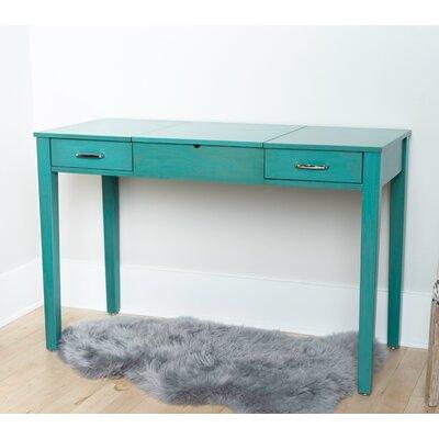 Winston Porter Hunedoara Vanity with Mirror Color: Turquoise
