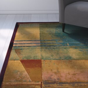 Albro Red/Green Area Rug