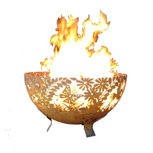 EsschertDesign Garden Fire Bowl Steel Woo..