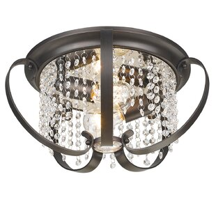Willa Arlo Interiors Hardouin 2-Light Flush Mount