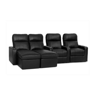 Red Barrel Studio Modern Leather Home Theater Sofa (Row of 4)