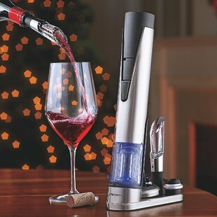 Electric Blue 1 Wine Opener and Preserver Set ByWine Enthusiast