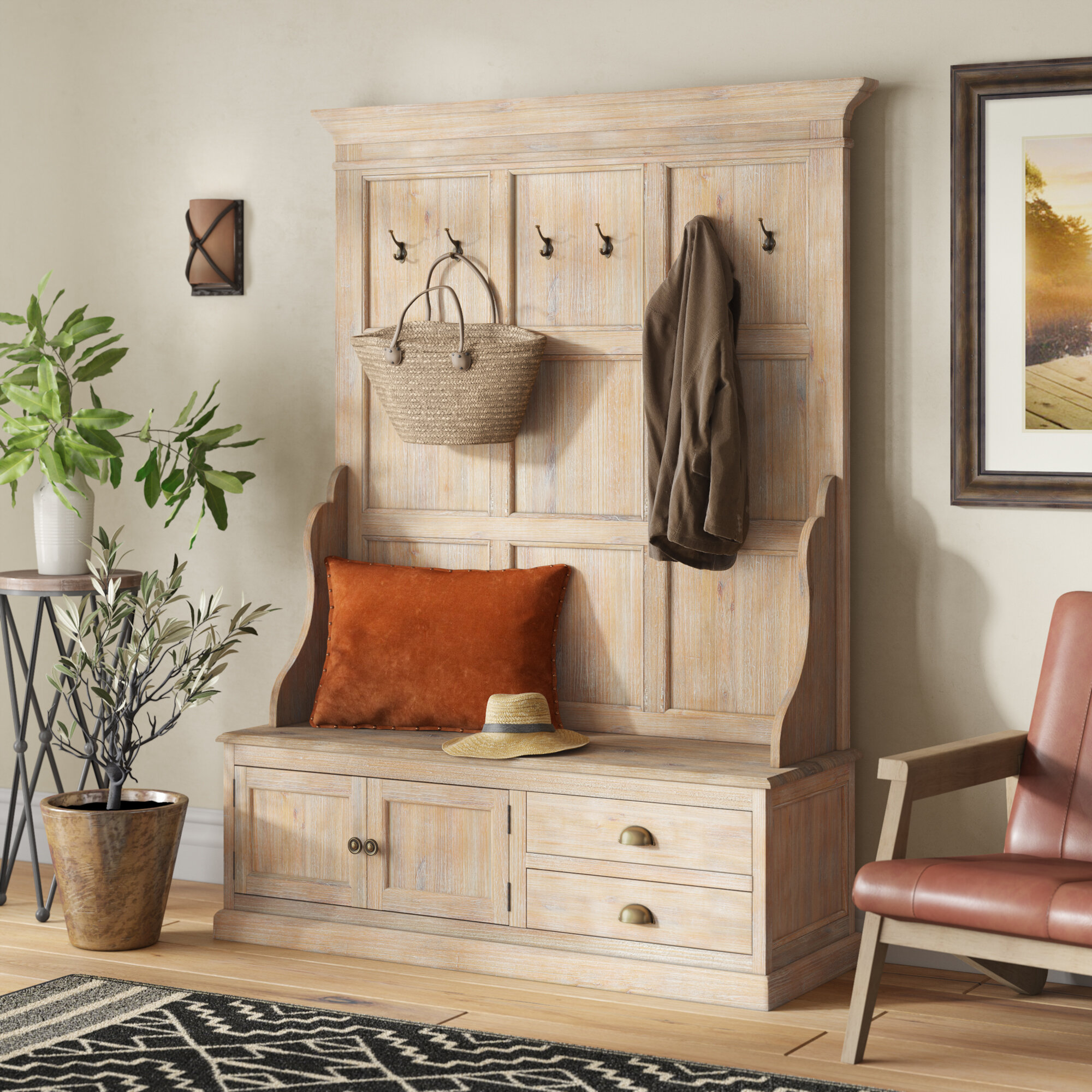 Solid Wood Hall Trees You Ll Love In 2021 Wayfair