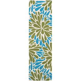 Wallingford Hand-Hooked Blue/Green Indoor/Outdoor Area Rug