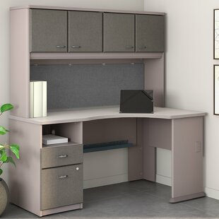 Series A L Shaped Corner Desk With Hutch by Bush Business Furniture Reviews