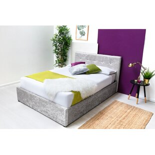 Review Litzy Upholstered Bed Frame With Mattress