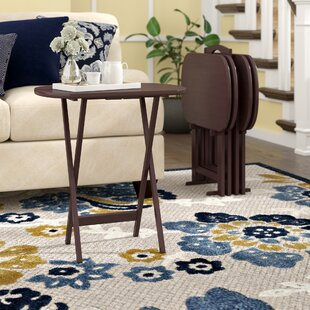 Susie Accent TV Tray Table Set (Set of 4) by Andover Mills
