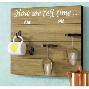 Vosburg How We tell Time Wooden Coffee/Wine Glass Rack