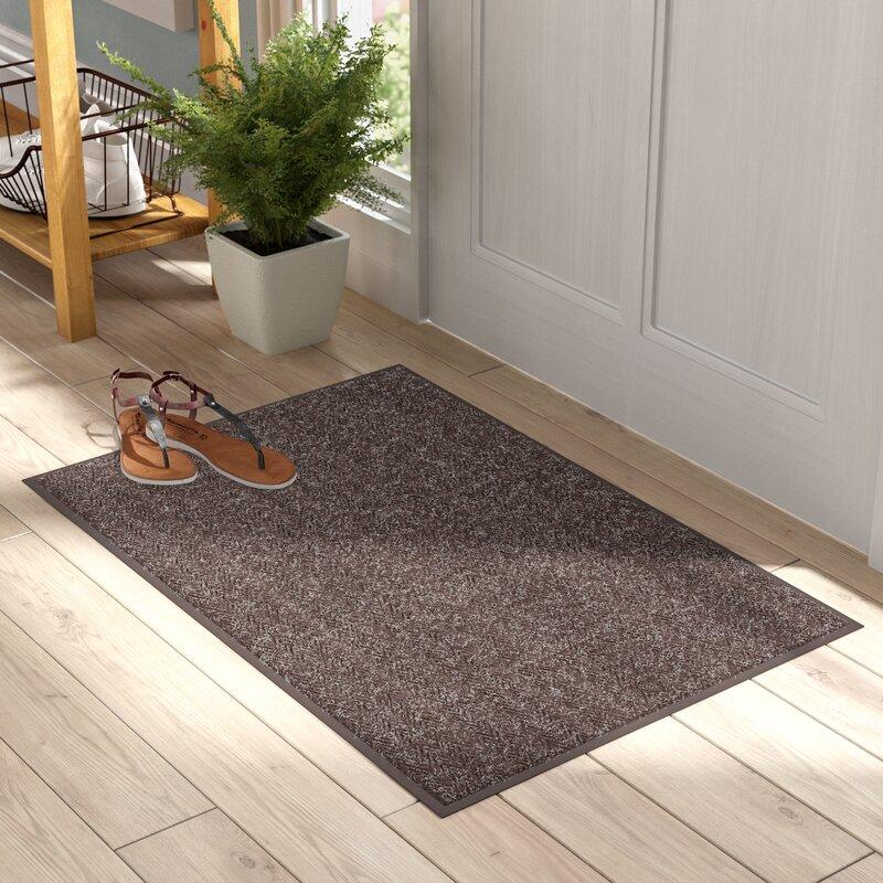 Pamrapo Chevron Non Slip Indoor Only Door Mat by Symple Stuff