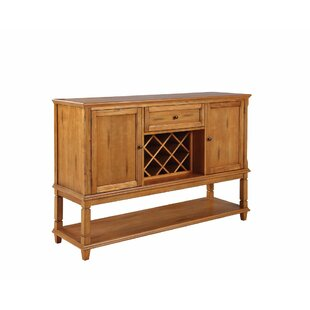 Kukkapalli Wooden Buffet Table with Wine Rack