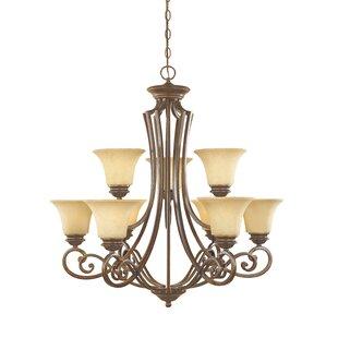 Designers Fountain Mendocino 9-Light Shaded Chandelier