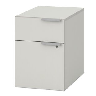 Pedestal 4-Drawer Mobile Vertical Filing Cabinet