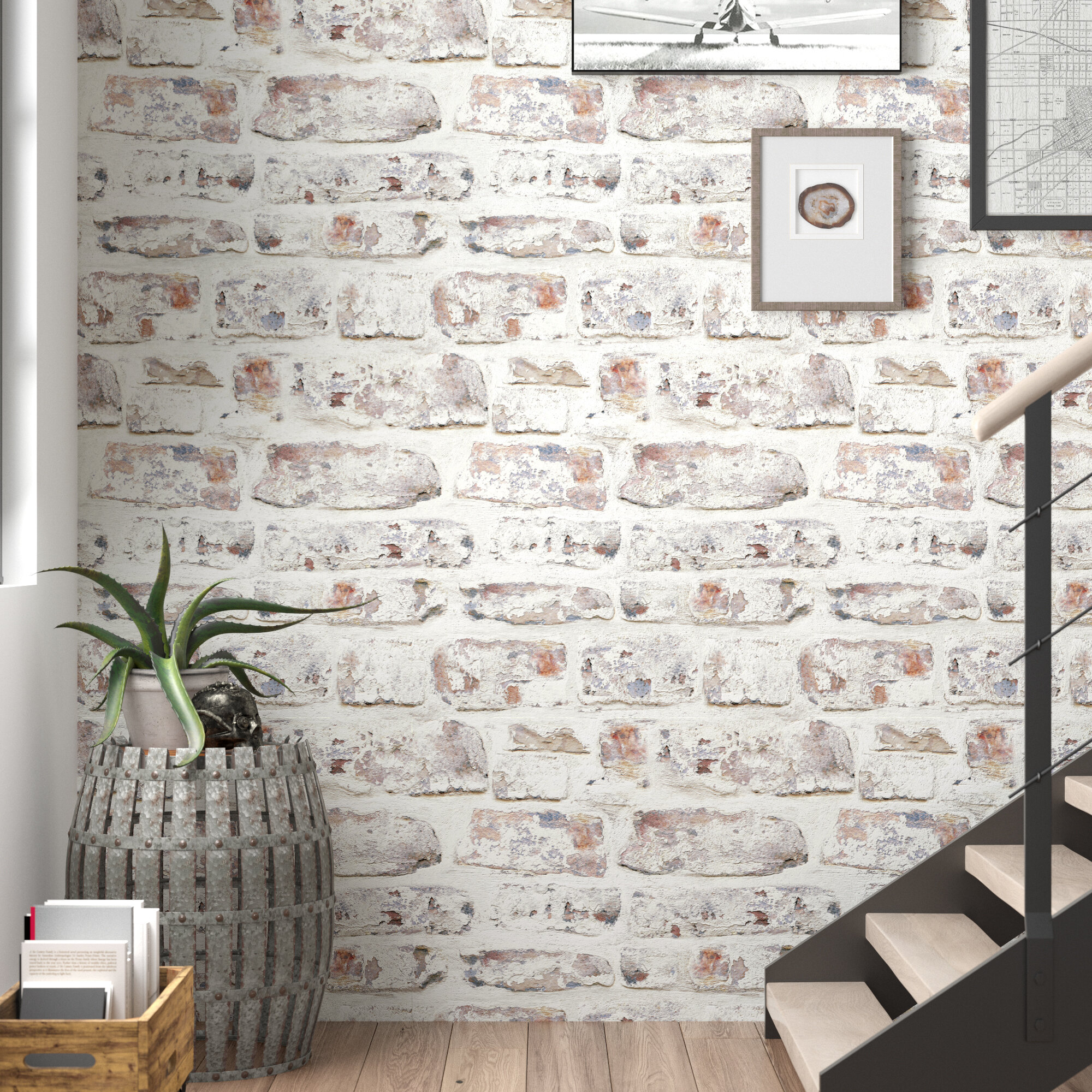 Trent Austin Design Alvara 34 45 X 20 87 Brick Wallpaper Roll Reviews Wayfair