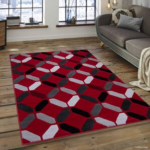 Grey And Red Area Rugs Wayfair