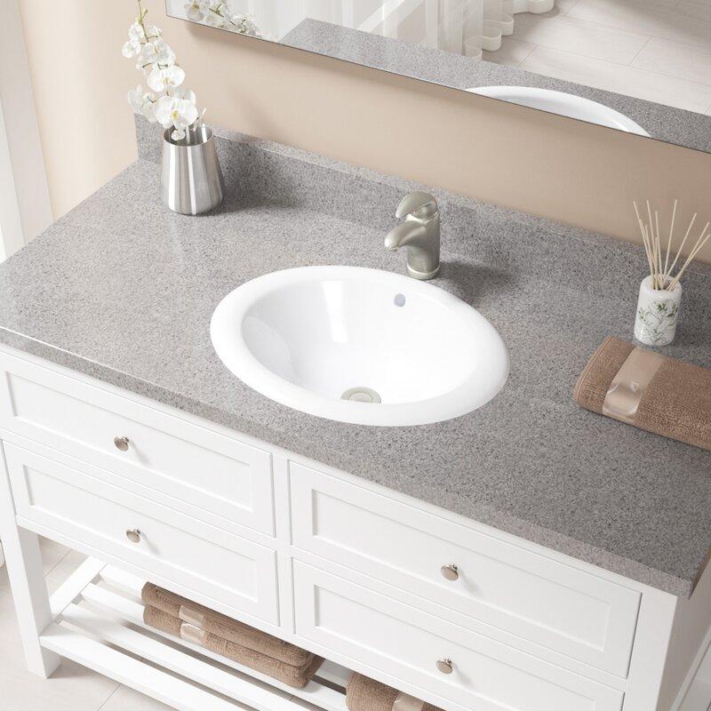 Oval Drop In Bathroom Sink
