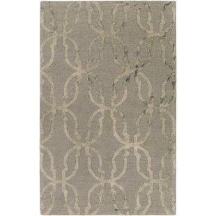 Affordable Glennon Hand-Tufted Slate Gray/Beige Area Rug By Ivy Bronx