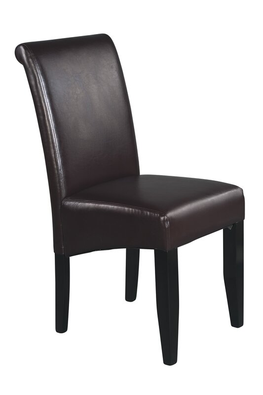 Milsons Genuine Leather Upholstered Dining Chair By Latitude Run