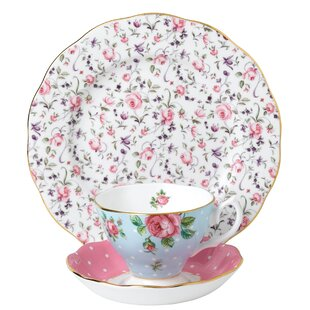 Vintage Mix 3 Piece Bone China Teacup Set