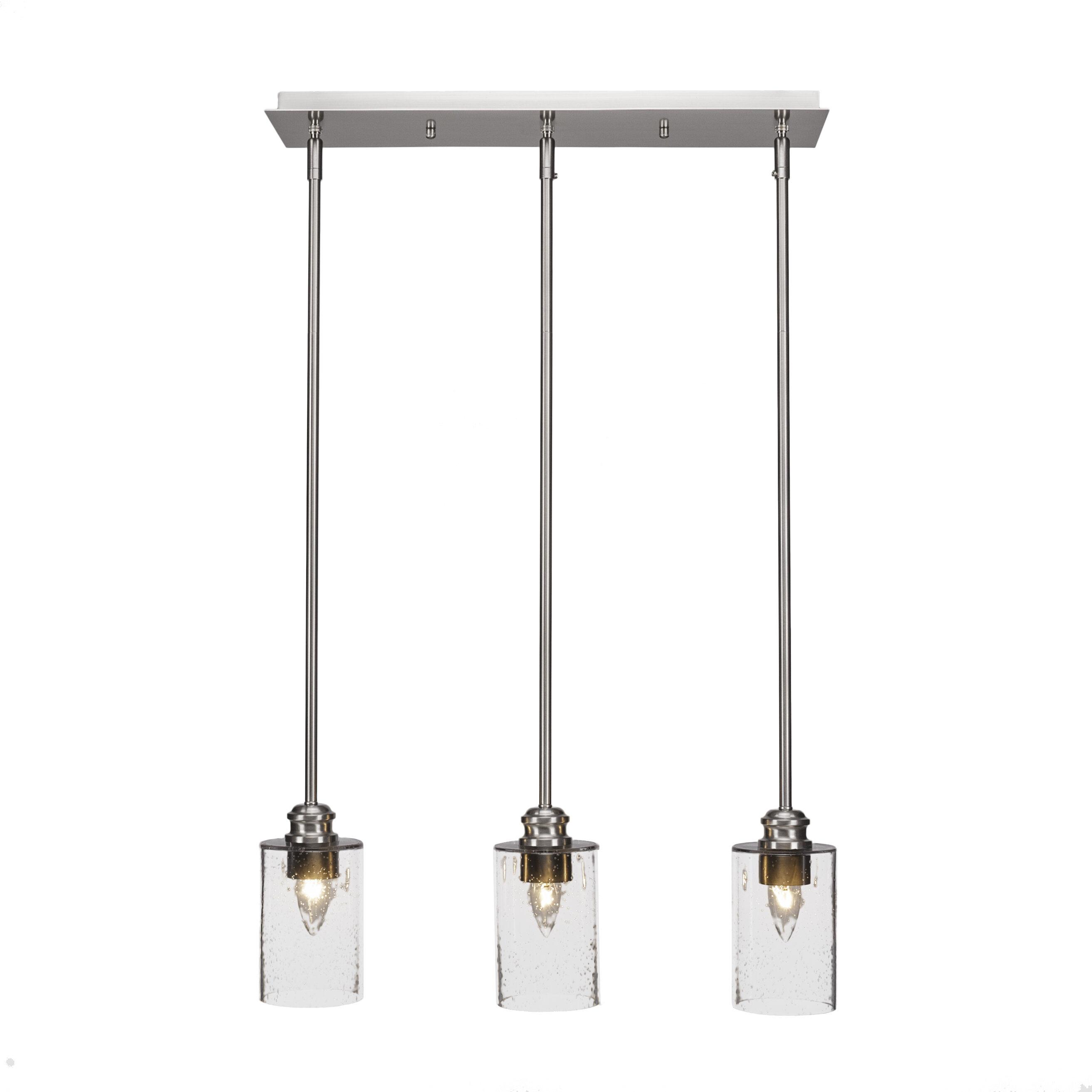 Ebern Designs Keon 3 Light Kitchen Island Linear Pendant Wayfair